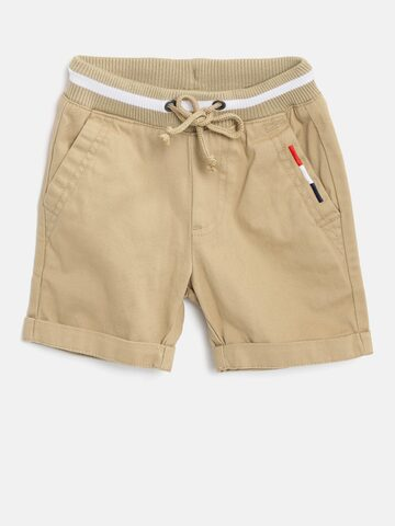 United Colors of Benetton Boys Beige Solid Regular Fit Shorts United Colors of Benetton Shorts at myntra