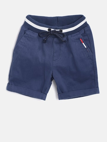 United Colors of Benetton Boys Navy Blue Solid Regular Fit Shorts United Colors of Benetton Shorts at myntra