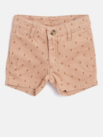 United Colors of Benetton Boys Beige Printed Regular Fit Chino Shorts United Colors of Benetton Shorts at myntra