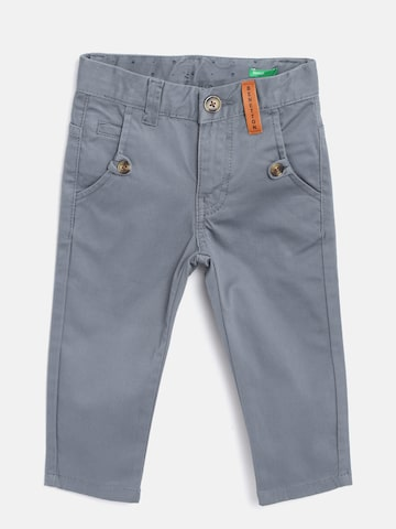 United Colors of Benetton Boys Blue Slim Fit Solid Regular Trousers United Colors of Benetton Trousers at myntra