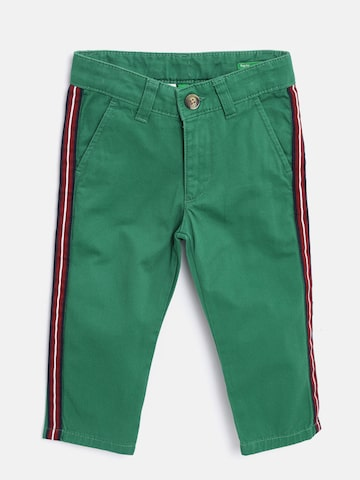United Colors of Benetton Boys Green Regular Fit Solid Regular Trousers United Colors of Benetton Trousers at myntra