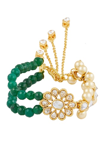 Sia Art Jewellery Gold-Toned Metal Contemporary Bracelet Sia Art Jewellery Bracelet at myntra