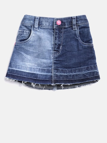 Palm Tree Girls Blue Washed A-Line Denim Skirt Palm Tree Skirts at myntra