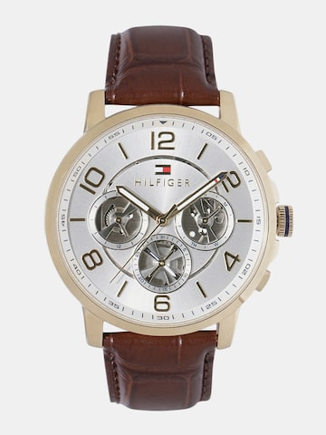 Tommy Hilfiger Men Silver-Toned Analogue Watch NTH1791291 Tommy Hilfiger Watches at myntra