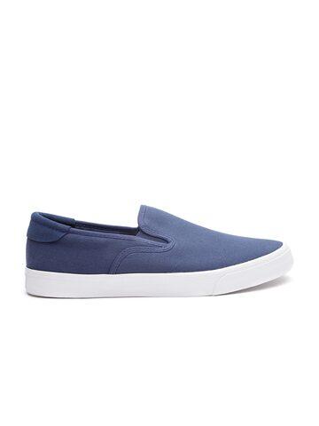 United Colors of Benetton Men Navy Slip-On Sneakers United Colors of Benetton Casual Shoes at myntra