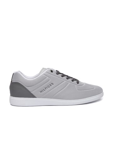 Tommy Hilfiger Men Grey Core Sneakers Tommy Hilfiger Casual Shoes at myntra