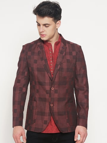 The Indian Garage Co Maroon Slim Fit Single-Breasted Casual Blazer The Indian Garage Co Blazers at myntra