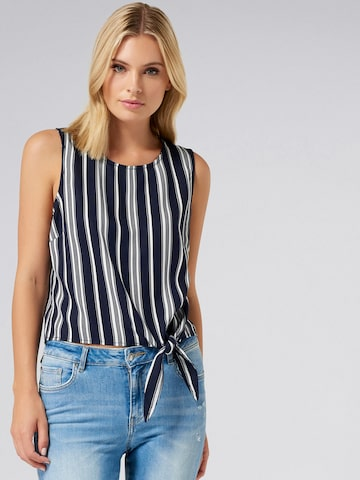 Forever New Women Blue Striped Top Forever New Tops at myntra