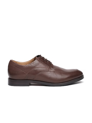 Clarks Men Brown Corfield Apron Leather Derby Shoes Clarks Formal Shoes at myntra