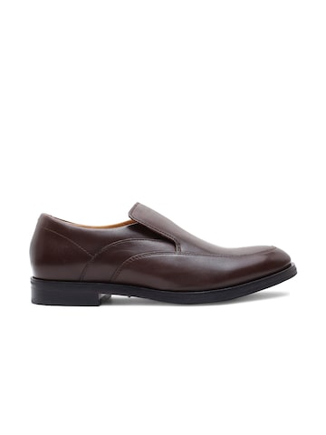 Clarks Men Brown Leather Formal Slip-Ons Clarks Formal Shoes at myntra
