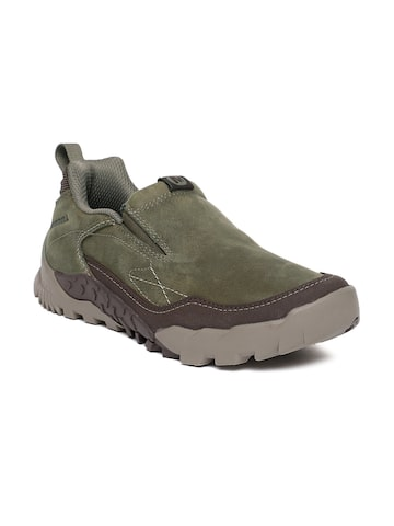 Merrell Men Olive Green Annex Trax Moc Slip-On Sneakers Merrell Casual Shoes at myntra