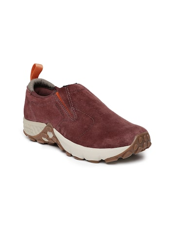 Merrell Women Maroon Jungle MOC Slip-On Sneakers Merrell Casual Shoes at myntra
