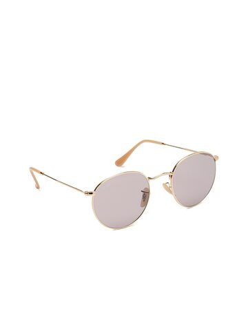 Ray-Ban Men Round Sunglasses 0RB34479064V850 Ray-Ban Sunglasses at myntra