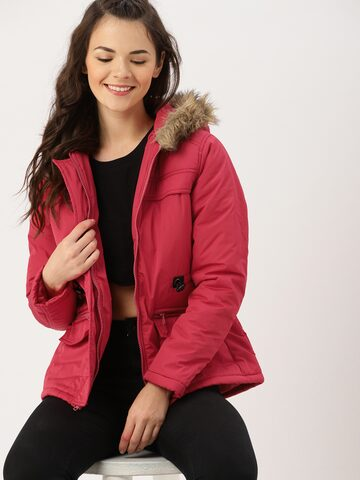 DressBerry Women Rose Solid Parka DressBerry Jackets at myntra
