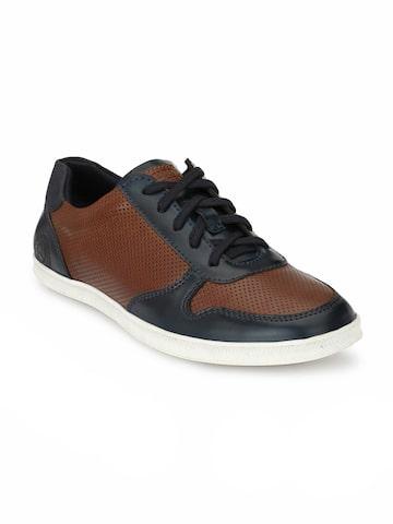 Alberto Torresi Men Blue & Brown Sneakers Alberto Torresi Casual Shoes at myntra