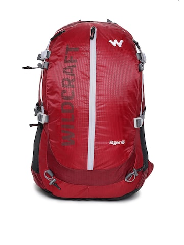 Wildcraft Unisex Red Eiger 45 Rucksack Wildcraft Rucksacks at myntra