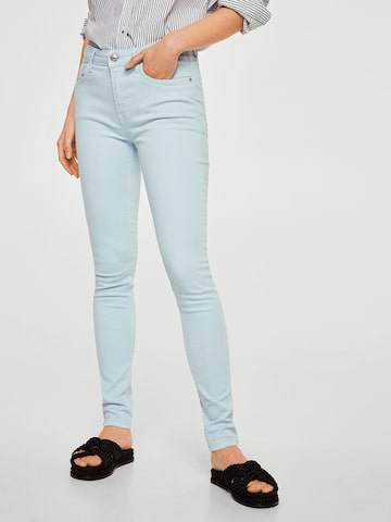 MANGO Women Blue Mid-Rise Clean Look Stretchable Jeans MANGO Jeans at myntra