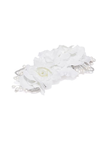 Accessorize Off-White Floral French Barrete Accessorize Hair Accessory at myntra