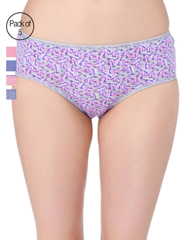 Red Rose Women Pack of 5 Hipster Briefs Red Rose Briefs at myntra