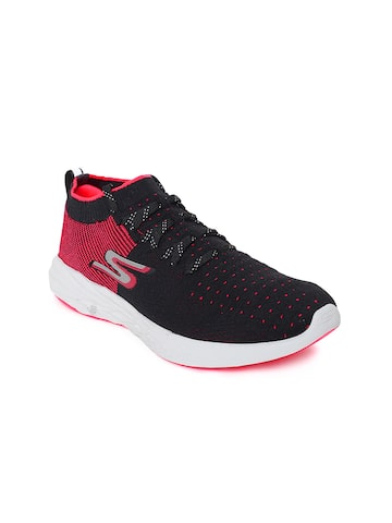 Skechers Women Black Go Run 6 Running Shoes Skechers Sports Shoes at myntra
