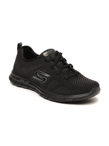Skechers Women Black Slip-On Sneakers Skechers Casual Shoes at myntra