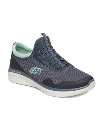 Skechers Women Grey Slip-On Sneakers Skechers Casual Shoes at myntra