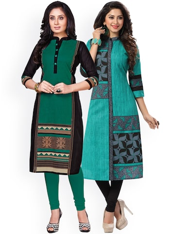 Ishin Women Pack Of 2 Printed Unstitched Dress Material Ishin Dress Material at myntra