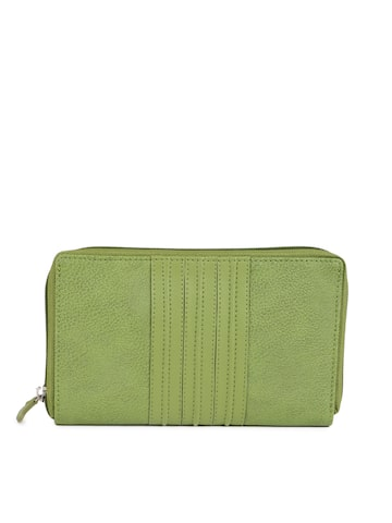 Baggit Women Green Textured Zip Around Wallet Baggit Wallets at myntra