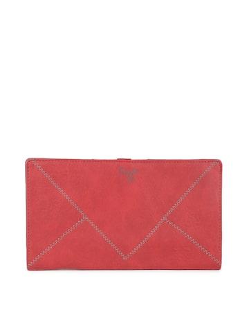 Baggit Women Red Two Fold Wallet Baggit Wallets at myntra