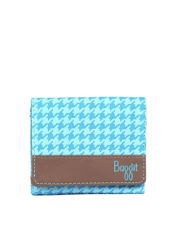Baggit Women Blue Printed Three Fold Wallet Baggit Wallets at myntra
