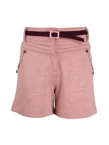 CUTECUMBER Girls Peach-Coloured Printed Regular Fit Regular Shorts CUTECUMBER Shorts at myntra