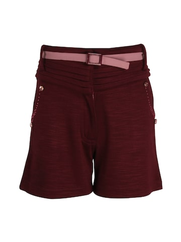 CUTECUMBER Girls Maroon Printed Regular Fit Regular Shorts CUTECUMBER Shorts at myntra