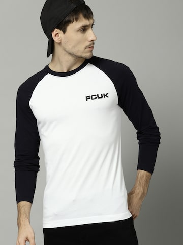 French Connection Men White Solid Round Neck T-shirt French Connection Tshirts at myntra