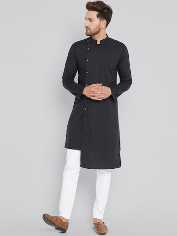See Designs Men Black Solid Straight Kurta See Designs Kurtas at myntra