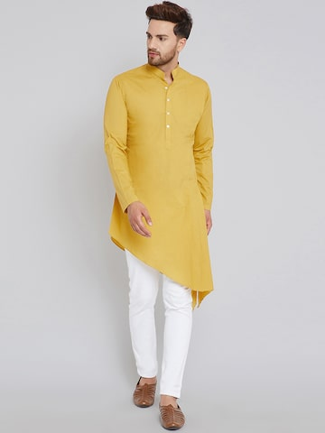 See Designs Men Mustard Yellow Solid A-Line Kurta See Designs Kurtas at myntra