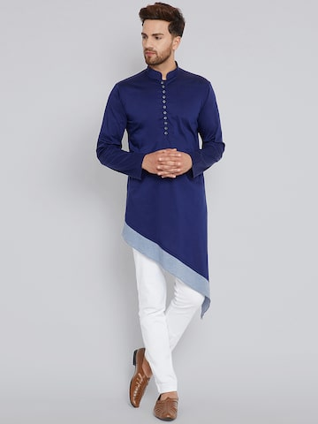 See Designs Men Blue Solid A-Line Kurta See Designs Kurtas at myntra