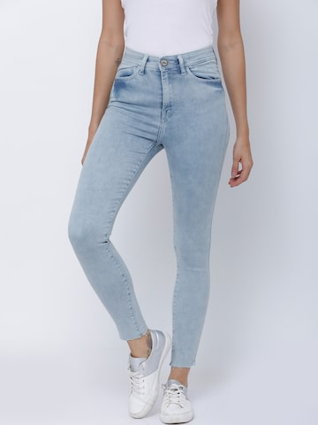 Tokyo Talkies Women Blue Super Skinny Fit Mid-Rise Clean Look Stretchable Jeans Tokyo Talkies Jeans at myntra