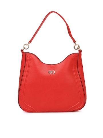 E2O Red Solid Hobo Bag E2O Handbags at myntra
