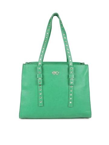 E2O Green Solid Shoulder Bag E2O Handbags at myntra