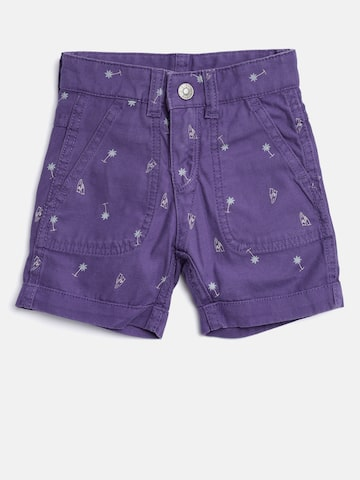 United Colors of Benetton Boys Purple Printed Regular Fit Reversible Shorts United Colors of Benetton Shorts at myntra