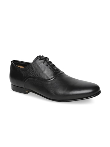 Clarks Men Black Leather Formal Oxford Shoes Clarks Formal Shoes at myntra