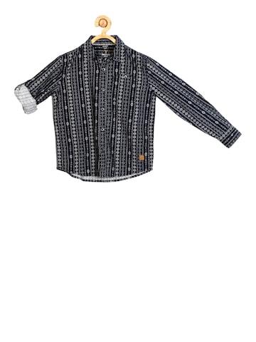 Allen Solly Junior Boys Navy Blue Regular Fit Printed Casual Shirt Allen Solly Junior Shirts at myntra