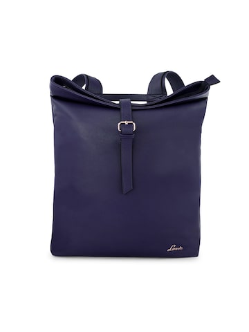 Lavie Women Navy Blue Solid Backpack Lavie Backpacks at myntra