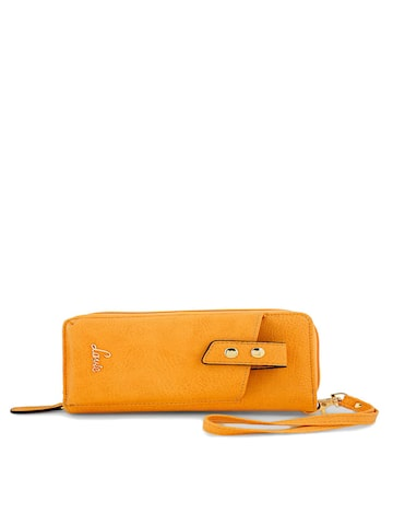 Lavie Women Yellow Solid Zip Around Wallet Lavie Wallets at myntra