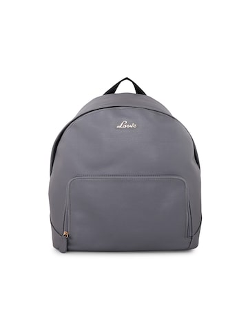 Lavie Women Grey Solid Backpack Lavie Backpacks at myntra