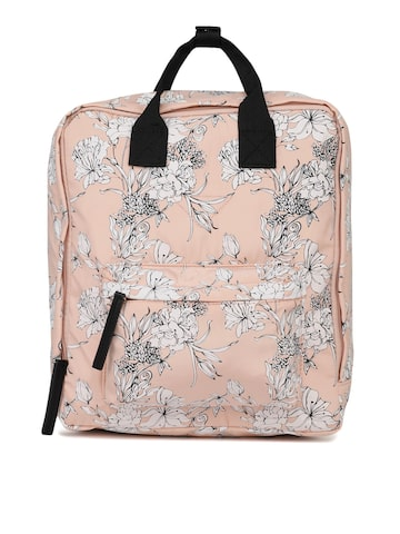 Steve Madden Women Peach-Coloured Printed Backpack Steve Madden Backpacks at myntra