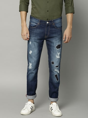 French Connection Men Blue Slim Fit Mid-Rise Mildly Distressed Stretchable Jeans French Connection Jeans at myntra