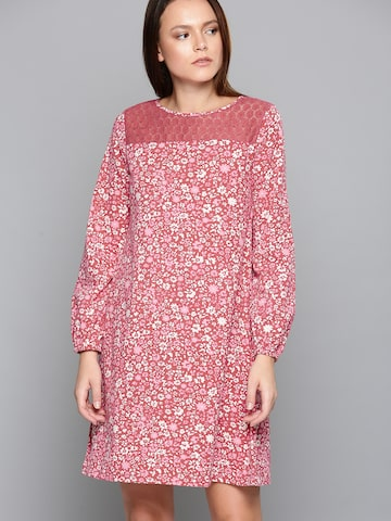 Chemistry Women Pink Printed A-Line Dress Chemistry Dresses at myntra