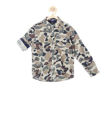 Allen Solly Junior Boys Multicoloured Regular Fit Printed Casual Shirt Allen Solly Junior Shirts at myntra