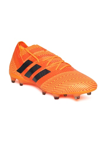 Adidas Men Neon Orange Nemeziz 18.1 Firm Ground Football Shoes Adidas Sports Shoes at myntra